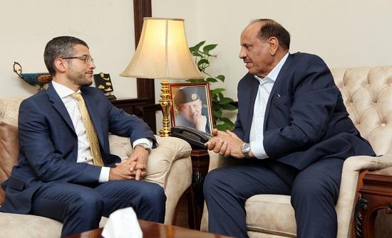 """""""حماد"""" يلتقي السفير الفرنسي في عمان"""