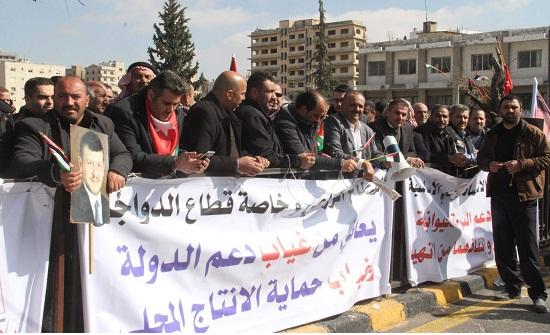 نواب يشاركون المزارعين في اعتصام امام مجلس النواب
