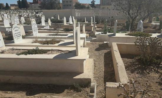 نادي دير ابي سعيد والمجلس المحلي ينفذان حملة لتنظيف المقابر