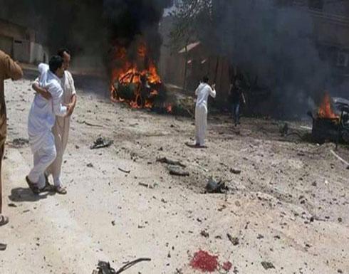 قتلى وجرحى بانفجار سيارتين ملغومتين في بنغازي