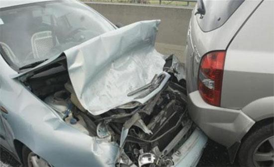 3 حوادث سير على اوتوستراد المفرق الزرقاء