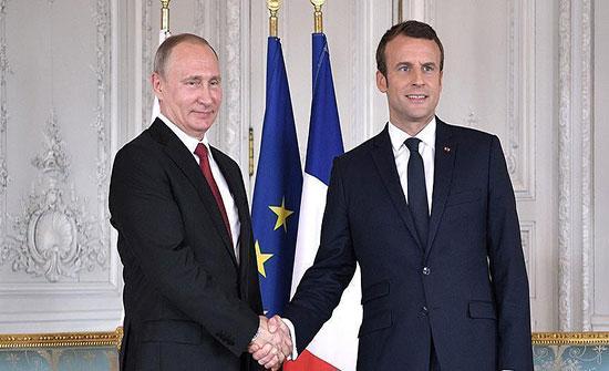 ماكرون يلتقي بوتين في روسيا الأحد
