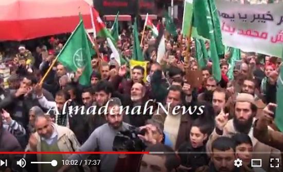 بالفيديو :  شاهدوا مسيرة وسط البلد