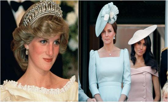 """يالصور : من الخاتم الياقوتيّ إلى ساعة كارتير.. شاهدي """"ميراث"""" كيت وميغان من الأميرة ديانا!"""