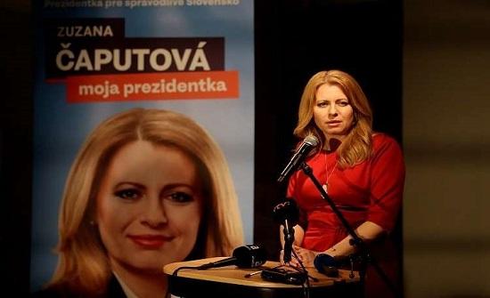 فوز كابوتوفا في الانتخابات الرئاسية في سلوفاكيا