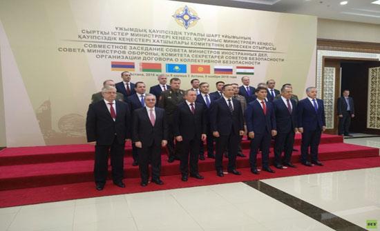 افتتاح أعمال قمة منظمة معاهدة الأمن الجماعي في أستانا