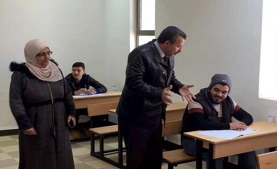 العكور يطمئن على سير امتحان التوجيهي في الكرك
