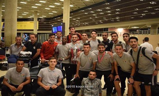 عودة المنتخب الأردني للشباب بكأس بطولة بانكوك