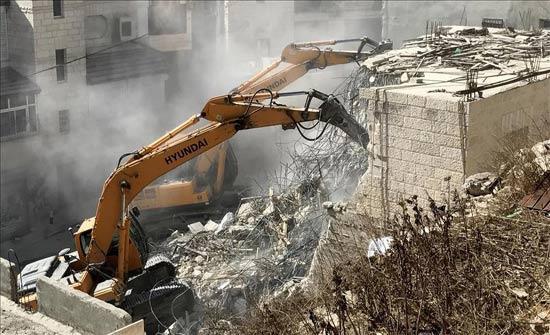 إسرائيل هدمت ١٣٢منشأة ومنزلا فلسطينيا في القدس خلال العام ٢٠١٧