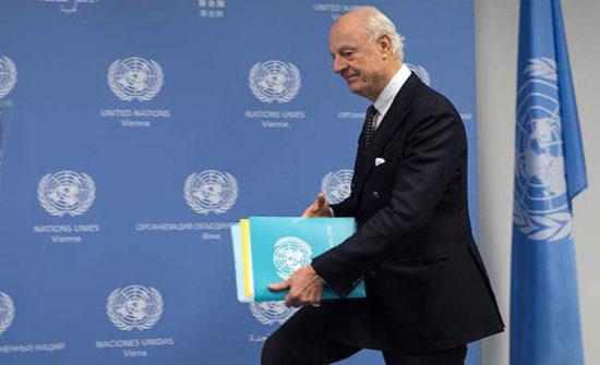 دي ميستورا سيرأس لجنة لوضع مسودة دستور جديد لسوريا