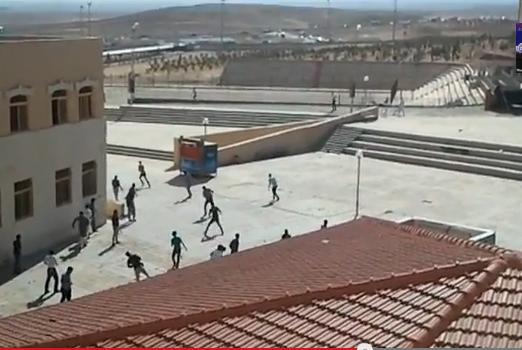 شاهدوا مشاجرة جامعة الحسين ( فيديو )