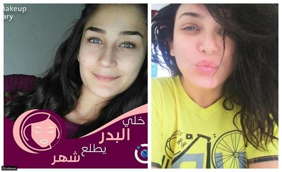 صور: بدون مكياج لمدة شهر.. فتيات سوريا في تحدي خلي البدر يطلع شهر