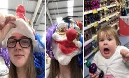 بالفيديو : رد فعل طفلة أخافتها خالتها في مقلب طريف