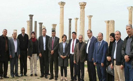 جولة ميدانية لوزيري البلديات والسياحة في لواء بني كنانة