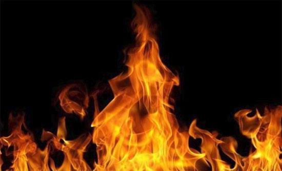 إصابة طفلين إثر حريق شقة في الكرك