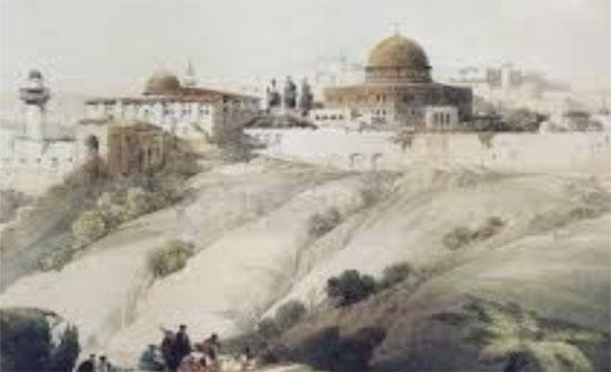 معرض صور ورسومات فنية في العقبة عن مدينة القدس