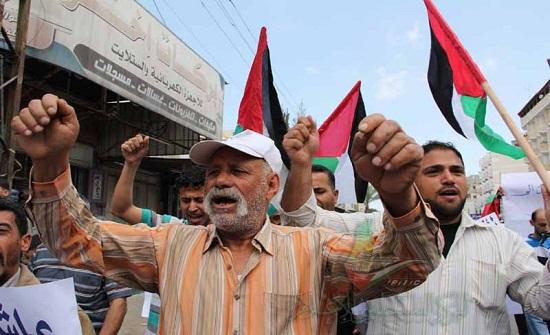 مسيرات حاشدة وسط وجنوب قطاع غزة للتنديد بقرارات ترمب بشأن القدس
