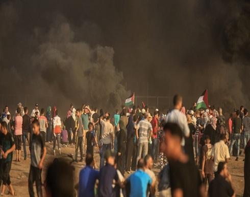 8 مصابين في مسيرة العودة شرقي قطاع غزة