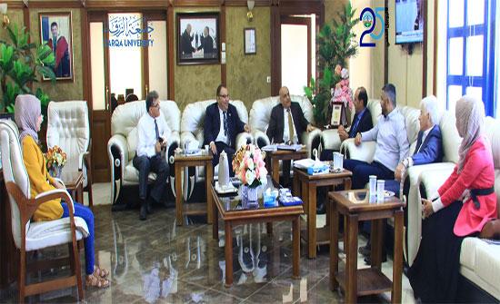 وفد من لجنة هيئة الاعتماد يزور جامعة الزرقاء