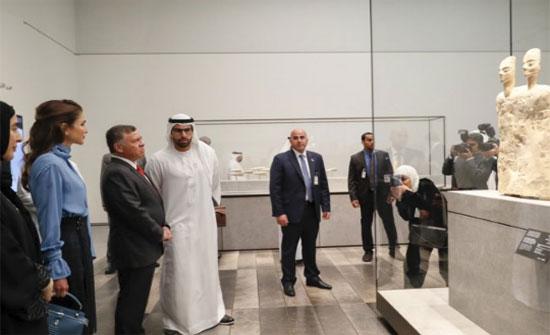 الملك والملكة يزوران متحف اللوفر أبوظبي