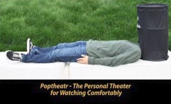 اختراع مذهل لعشاق السينما (فيديو)