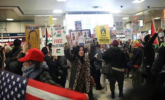 نيويورك.. تظاهرة للتضامن مع الطفلة الفلسطينية عهد التميمي