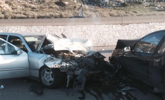 حادث تصادم على طريق اربد عمان يسبب أزمة مرورية خانقة