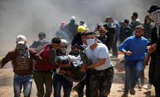26 مصابا جراء اعتداء الاحتلال على مسيرة العودة شرق قطاع غزة