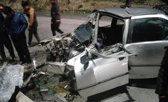 وفاة وإصابة أربعة آخرين اثر حادث تصادم في  العقبة