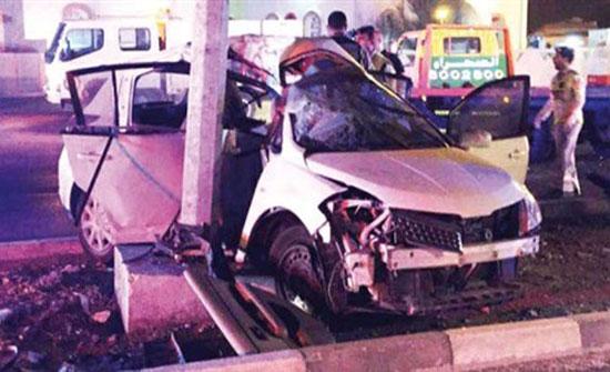 مصرع 3 إماراتيين في حادث سير مروع (صورة)