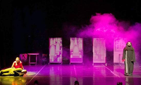 عرض مسرحية قلادة الدم في المركز الثقافي