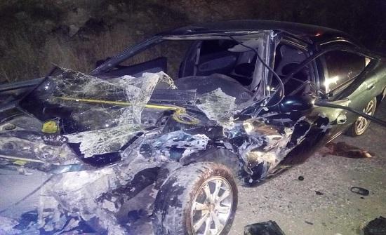 5 إصابات بتصادم مركبتين في ناعور