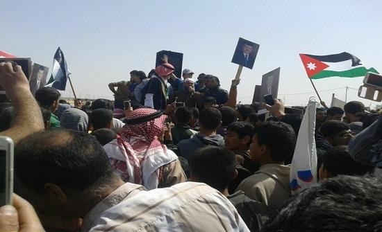 مسيرة في الزعتري تحيي جهود الاردن في مكافحة الارهاب