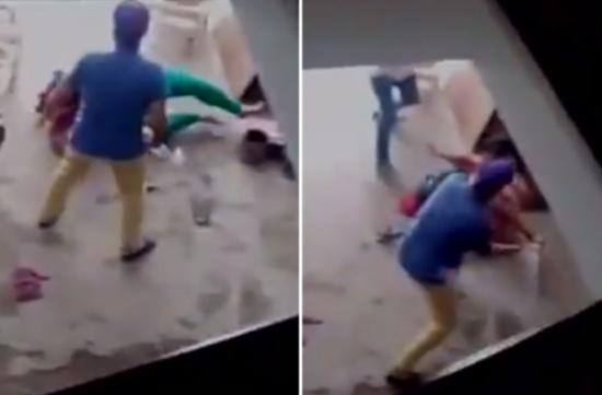 فيديو| رجل يضرب زوجة أخيه لوضعها أنثى بدل الذكر.. وهذا ما فعله بها!