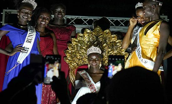 بالصور : الجمال الأفريقي...مسابقة ملكة جمال جنوب السودان