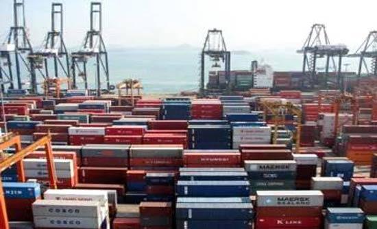 5.9% إرتفاع الصادرات الوطنية و1.3% إنخفاض المستوردات