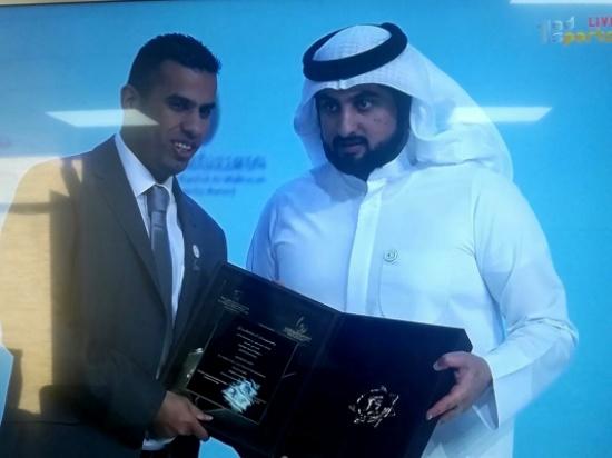 العساف يتسلم جائزة محمد بن راشد للإبداع الرياضي