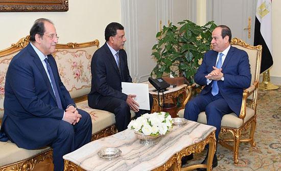 السيسي يستقبل رئيس جهاز الأمن والمخابرات السوداني
