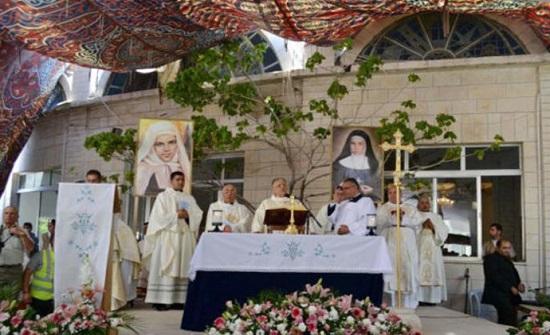 3 الاف يشاركون في الحج المسيحي لكنيسة سيدة الجبل في عنجره بعجلون