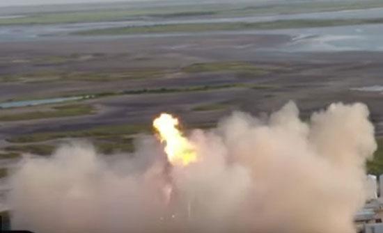 بالفيديو.. لحظة اشتعال صاروخ خلال إطلاقه