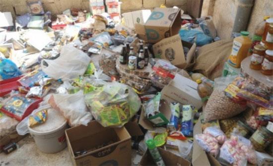 اتلاف اربعمائة كيلو غرام مواد غذائية فاسدة في اربد