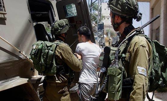 الاحتلال الإسرائيلي يعتقل 22 فلسطينيا في الضفة الغربية