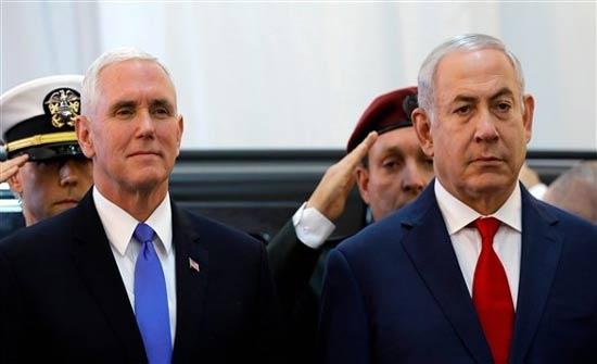 بنس يلتقي نتانياهو في إسرائيل