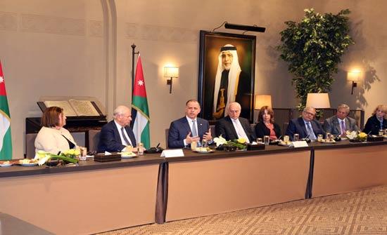 الأمير فيصل يستقبل وفدا من منظمات يهودية أميركية