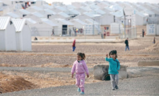 وزير الخارجية السويسري يزور مخيم الازرق ويشيد بجهود المملكة