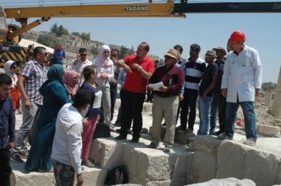 اكتشافات أثرية جديدة وهامة لحفرية جامعة اليرموك في أم قيس