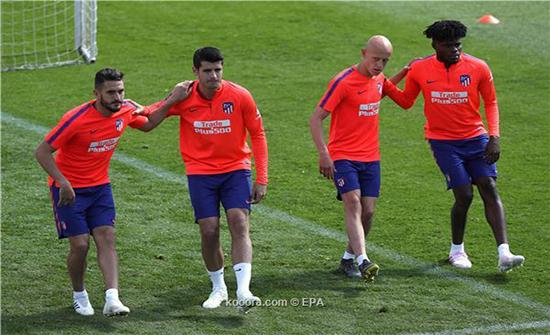 أتلتيكو مدريد يواجه يوفنتوس وديا بقائمة مكتملة