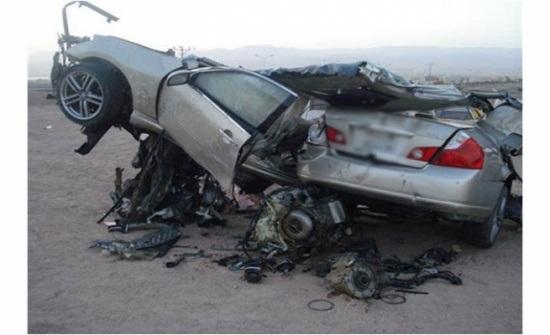 وفاة و6 اصابات بحادث تصادم بجرف الدراويش