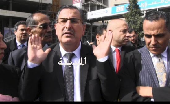 بالفيديو والصور  ..اعتصام محكمة شمال عمان .. 6 آلاف مراجع يوميا والمحامون : أين وزير العدل ؟