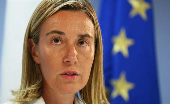 موغيريني: الاتحاد الأوروبي لن يعترف بسيادة إسرائيل على الجولان
